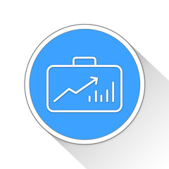 stock market Button Icon Business Concept