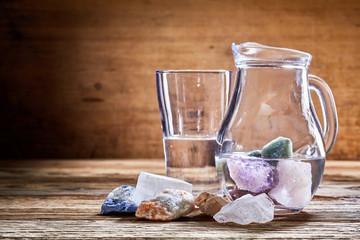 Healing stones in water