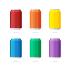 Soda can vector set