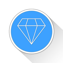 Diamond Button Icon Business Concept