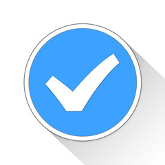 Check Mark Button Icon Business Concept