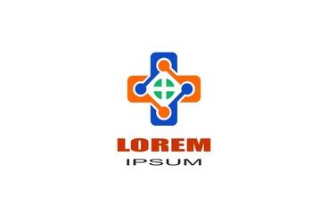 Medical Pharmacy Healthcare Geometric Cross Hospital Clinic Apotheke Business Company Stock Vector Logo Design Template