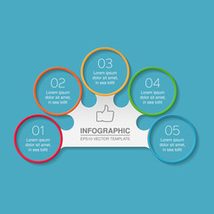 Vector infographic template, 6 options.