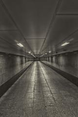 Empty crosswalk underground