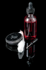 Electronic cigarette juice with cotton wick,screwdriver and coil wire