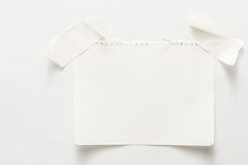 Lined note paper with sticky tape, notebook sheet