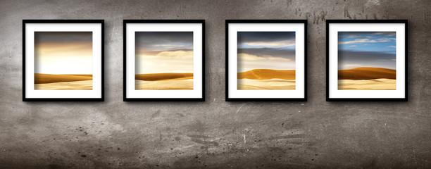 paesaggio desertico in quattro quadri