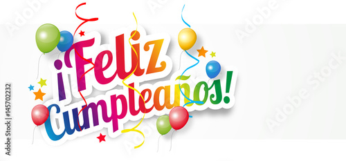 """Feliz cumpleaños"" Stock image and royalty free vector files on Fotolia com Pic 145702232"