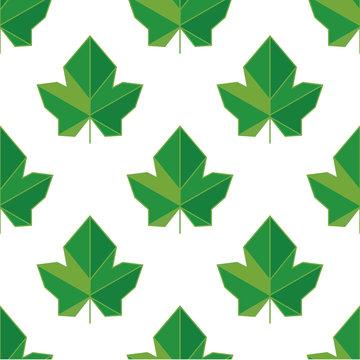 Abstract leaf ivy pattern. Vector illustration, leaf  seamless background pattern