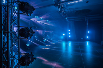 Illumination, light on the stage at the disco
