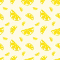 Seamless pattern lemon fruit. Vector illustration.