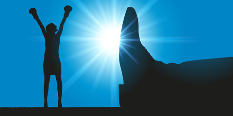 Femme - victoire - combat - inégalité - justice - féminisme - leadership