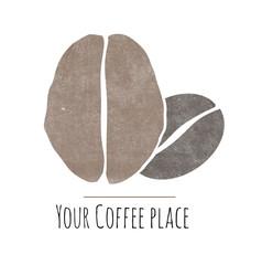 Coffee bean logo for a coffee pleace