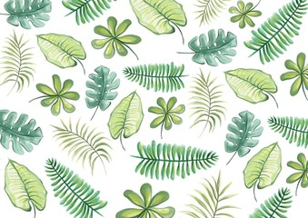 Tropical Leaves Watercolor