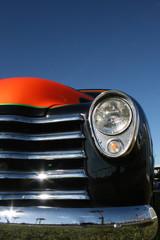 Vintage Car Close-up of Headlight