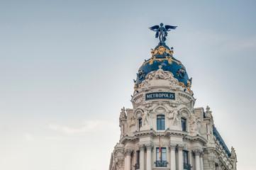 Poster de jardin Madrid Metropolis building at Madrid, Spain