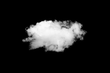 White cloud on black