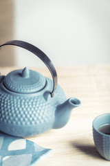 Tea time zen way, asian aesthetics, a good way to detox is fasting.