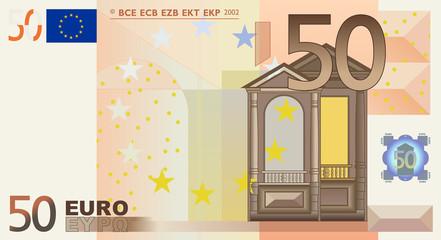 50 Euro vector