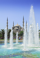 fountain and mosque