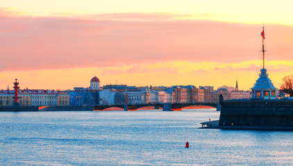 View of St. Petersburg during the white nights
