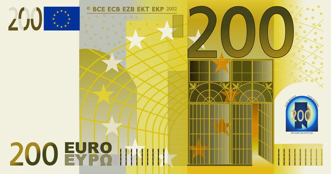 200 Euro vector