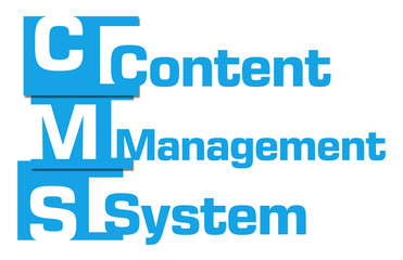 CMS - Content Management System Blue Abstract Stripes