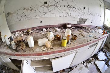 Abandoned chemical laboratory