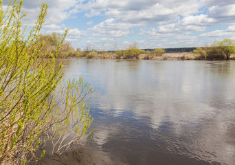 Flood on the Teterev River in Polesie
