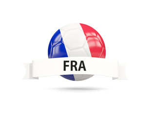 Football with flag of france