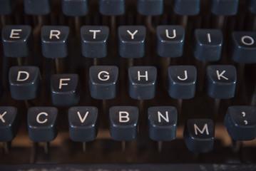 Closeup keyboard of Old type writer vintage style .