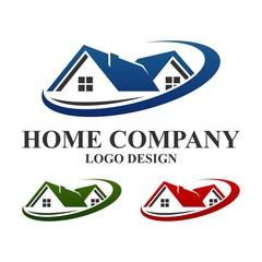 Home Logo Template, Abstract Home Real Estate Vector Logo Template