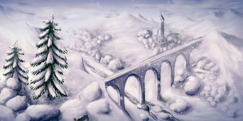 White Winter Wonderland - Digital Painting