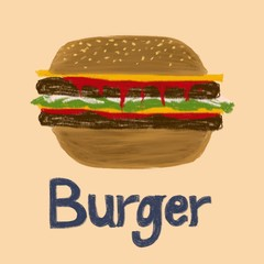 Illustration - burger