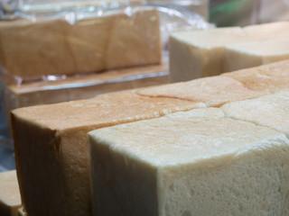 fresh bread in factory