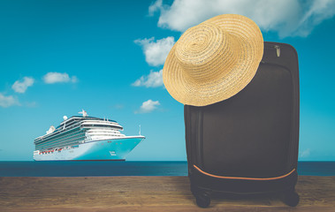 Cruise travel vacation concept.