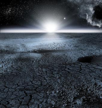 View of Moon Landscape, or Lunar Landscape