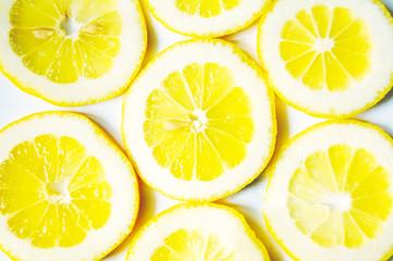 Lemon slices background. Lemon natural texture