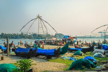 Fish Market, Fort Kochi, Kerala State, South India.