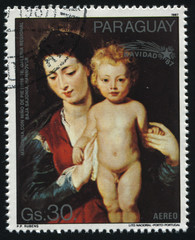 Madonna and Standing Child  by Rubens