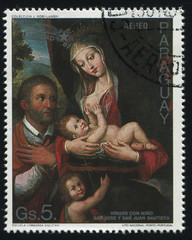 Virgin and Child with St Joseph and St John