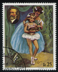 Ballerina and the Portrait of Guseppe Verdi by Cydney