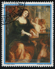 Woman and three children by Rubens