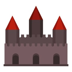 Castle tower icon isolated