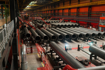 Manufacture of large diameter pipes