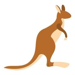 Kangaroo icon isolated
