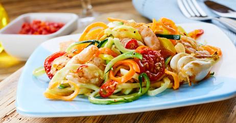 Nutritious healthy prawn appetiser