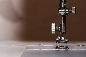 Woman's hobby, Sewing machine, thread, cloth