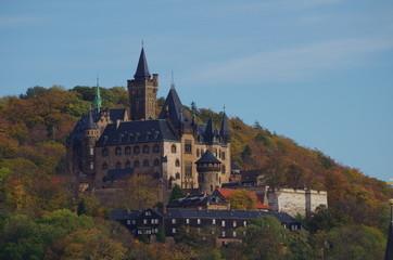 Schloss Wernigerode im Herbst