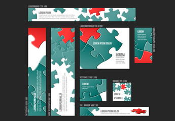 Eight Puzzle Piece Web Banners